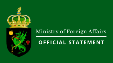 Ministry of Foreign Affairs - Official Statement