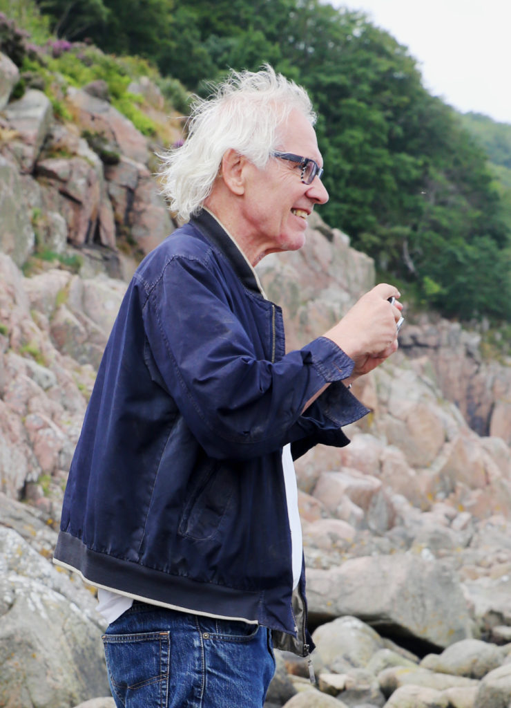 Photo by Frans Brood of Lars Vilks at the 25th Anniversary of Nimis celebration
